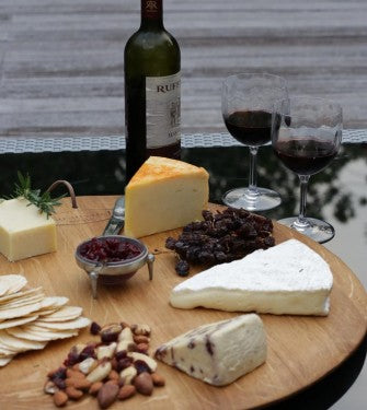 Wine Barrel Lid Cheese Board - Atelier du Bois | Gaya Alegria