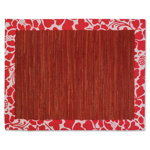 Waterlily Placemats - Red Passio