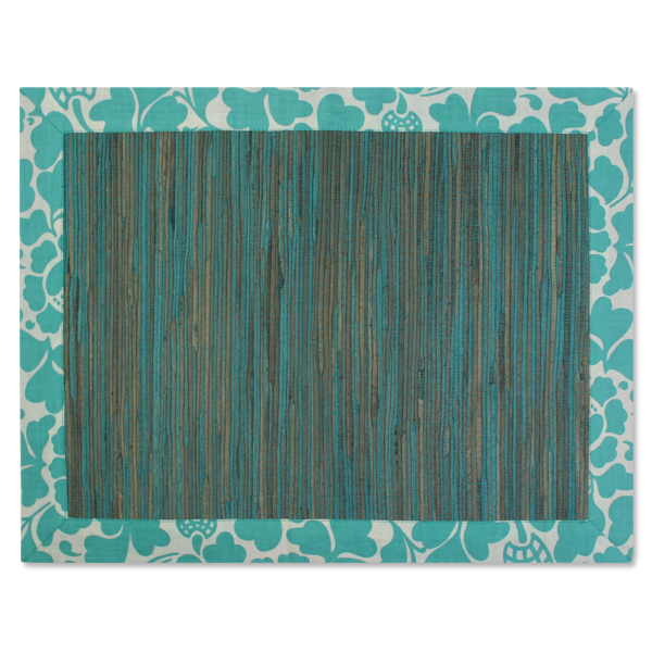 Waterlily Placemats - Turquoise - SET OF 4!