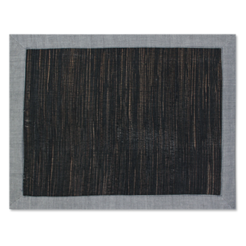 Waterlily Placemats - Grey/Black