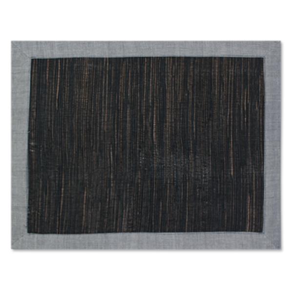 Waterlily Placemats - Grey/Black - SET OF 4!