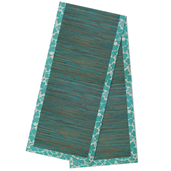 Table Runner - Turquoise Waterlily runner - 200 cm