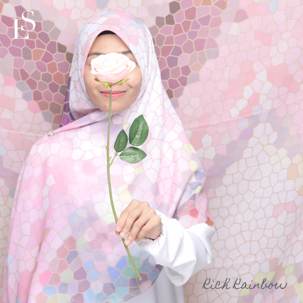 TUDUNG BLISS HONEYCOMB - Rich Rainbow