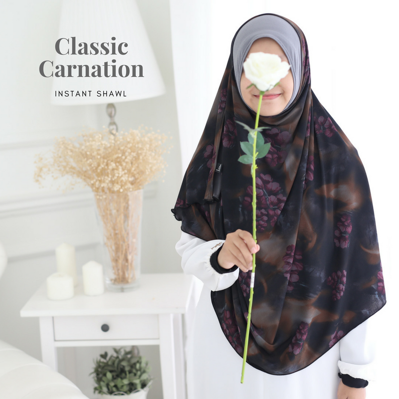 INSTANT SHAWL AYRA PRINTED - Classic Carnation