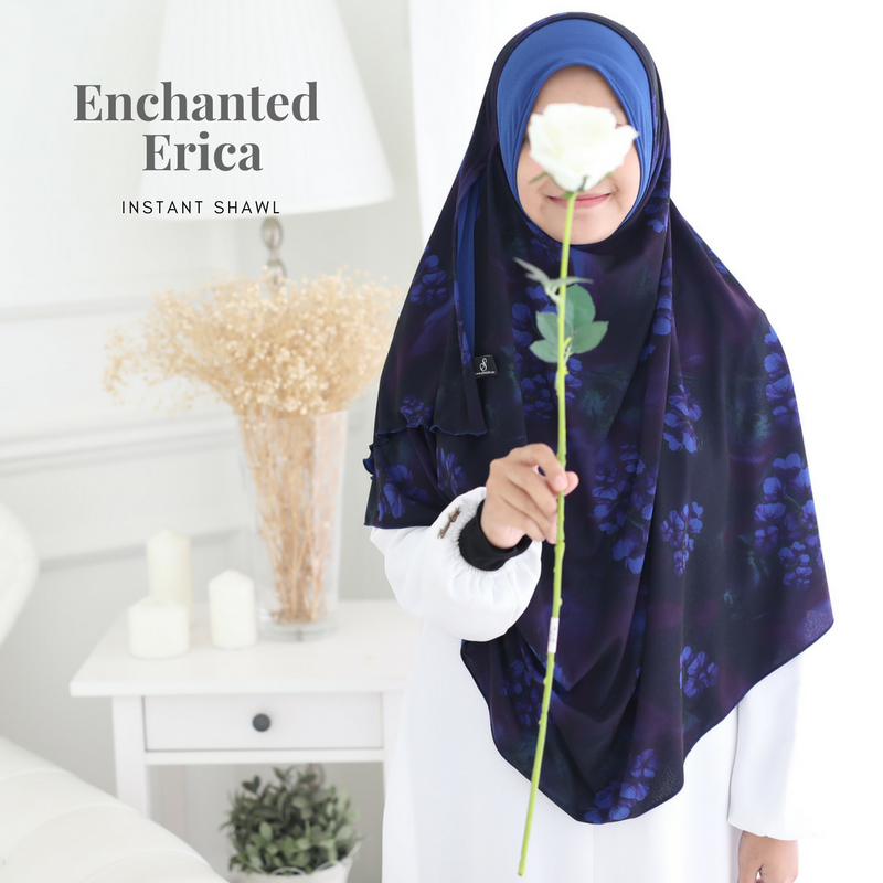 INSTANT SHAWL AYRA PRINTED - Enchanted Erica