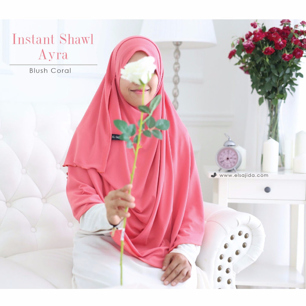 AS-IS INSTANT SHAWL AYRA - Blush Coral