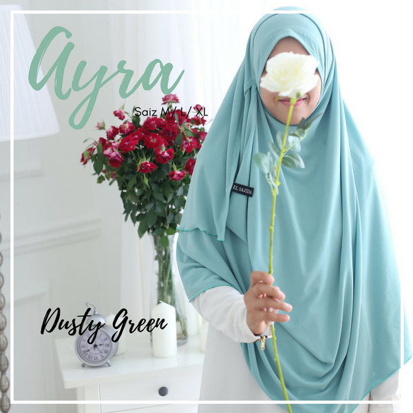AS-IS INSTANT SHAWL AYRA - Dusty Green