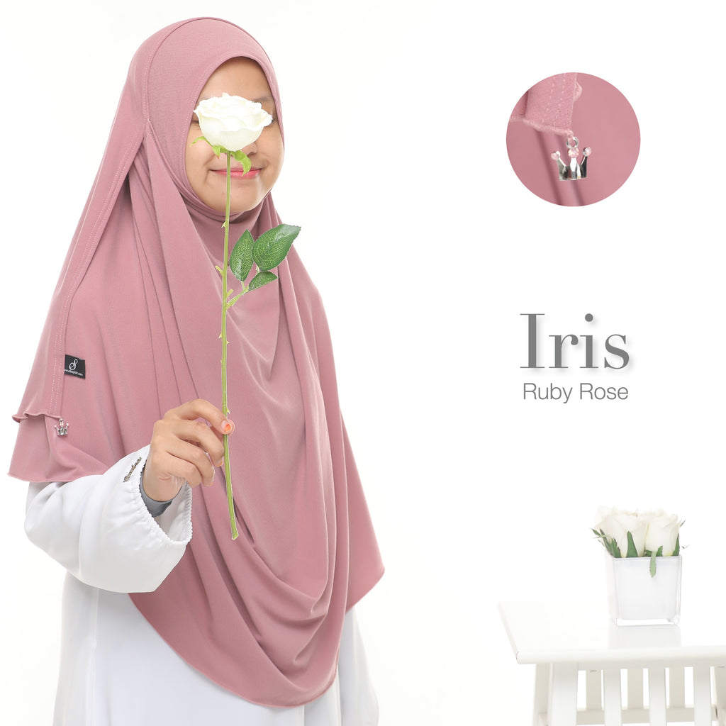 Instant Shawl Iris - Ruby Rose