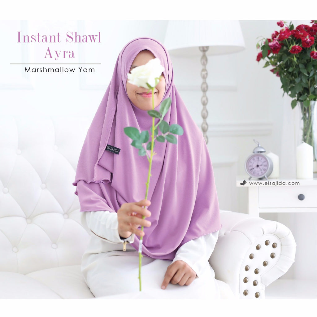 AS-IS INSTANT SHAWL AYRA - Marshmallow Yam