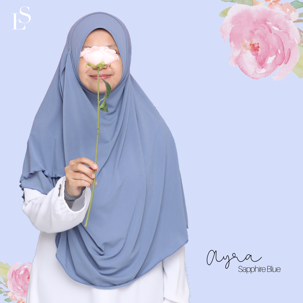 INSTANT SHAWL AYRA - Sapphire Blue