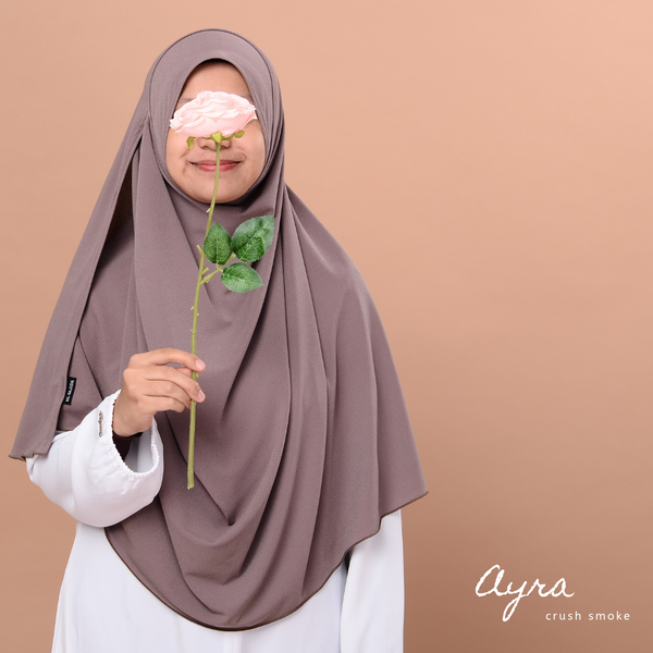 INSTANT SHAWL AYRA - Crush Smoke
