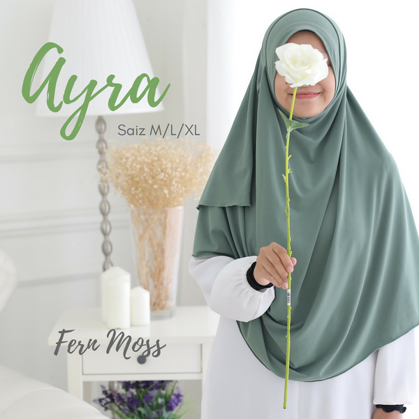 AS-IS INSTANT SHAWL AYRA - Fern Moss