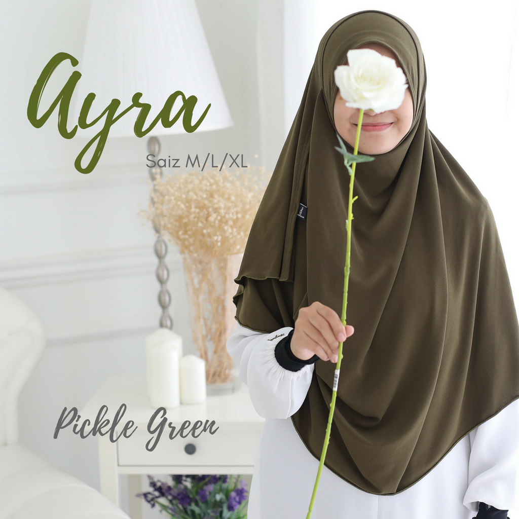 AS-IS INSTANT SHAWL AYRA - Pickle Green