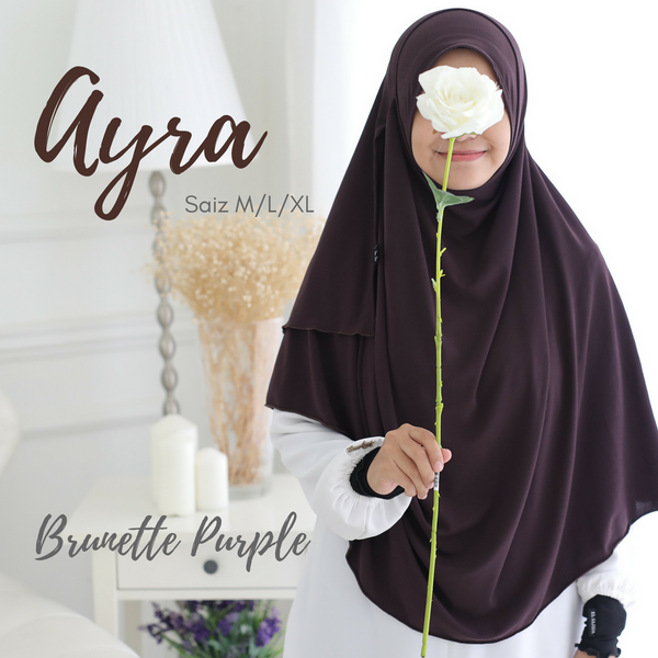 INSTANT SHAWL AYRA - Brunette Purple