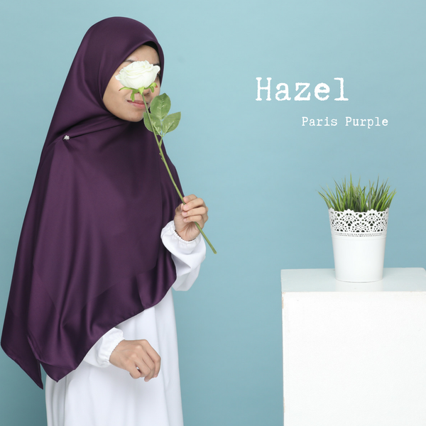 TUDUNG BAWAL HAZEL - Paris Purple