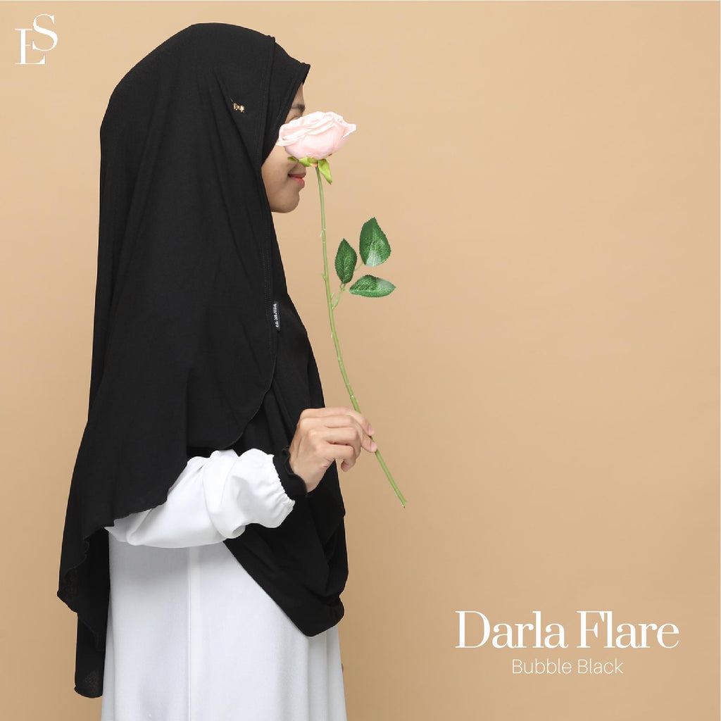 INSTANT SHAWL FLARE DARLA - Bubble Black