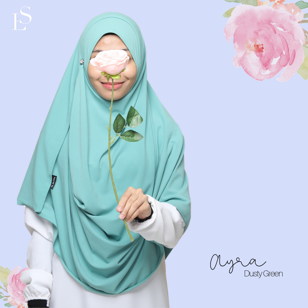 INSTANT SHAWL AYRA - Dusty Green