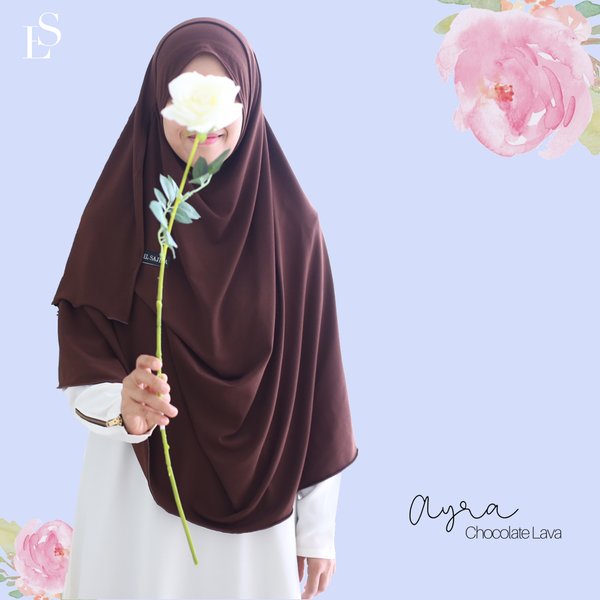 INSTANT SHAWL AYRA - Chocolate Lava