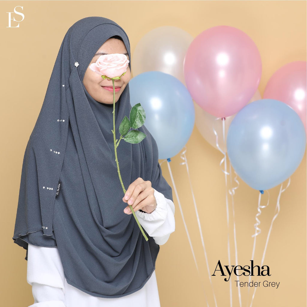 INSTANT SHAWL DIAMOND AYESHA - Tender Grey