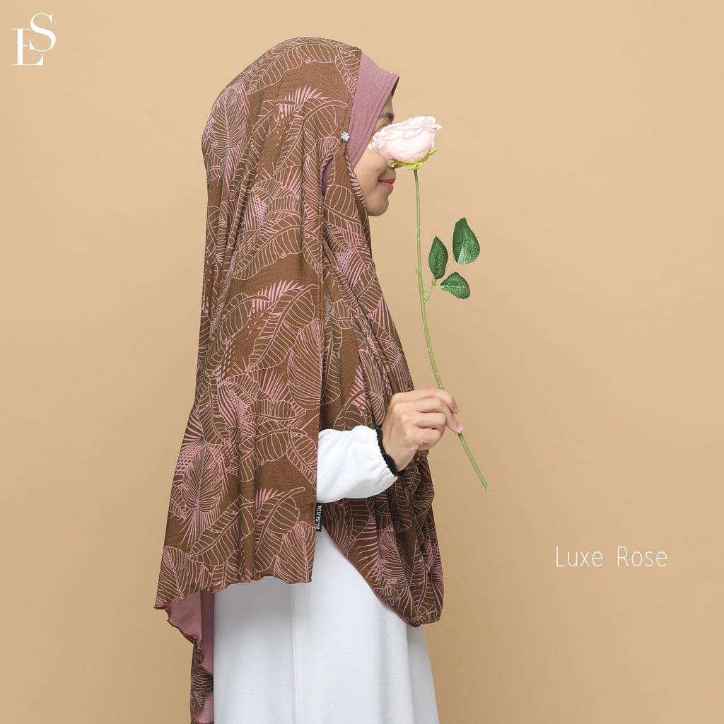 INSTANT SHAWL AYRA PRINTED - Luxe Rose