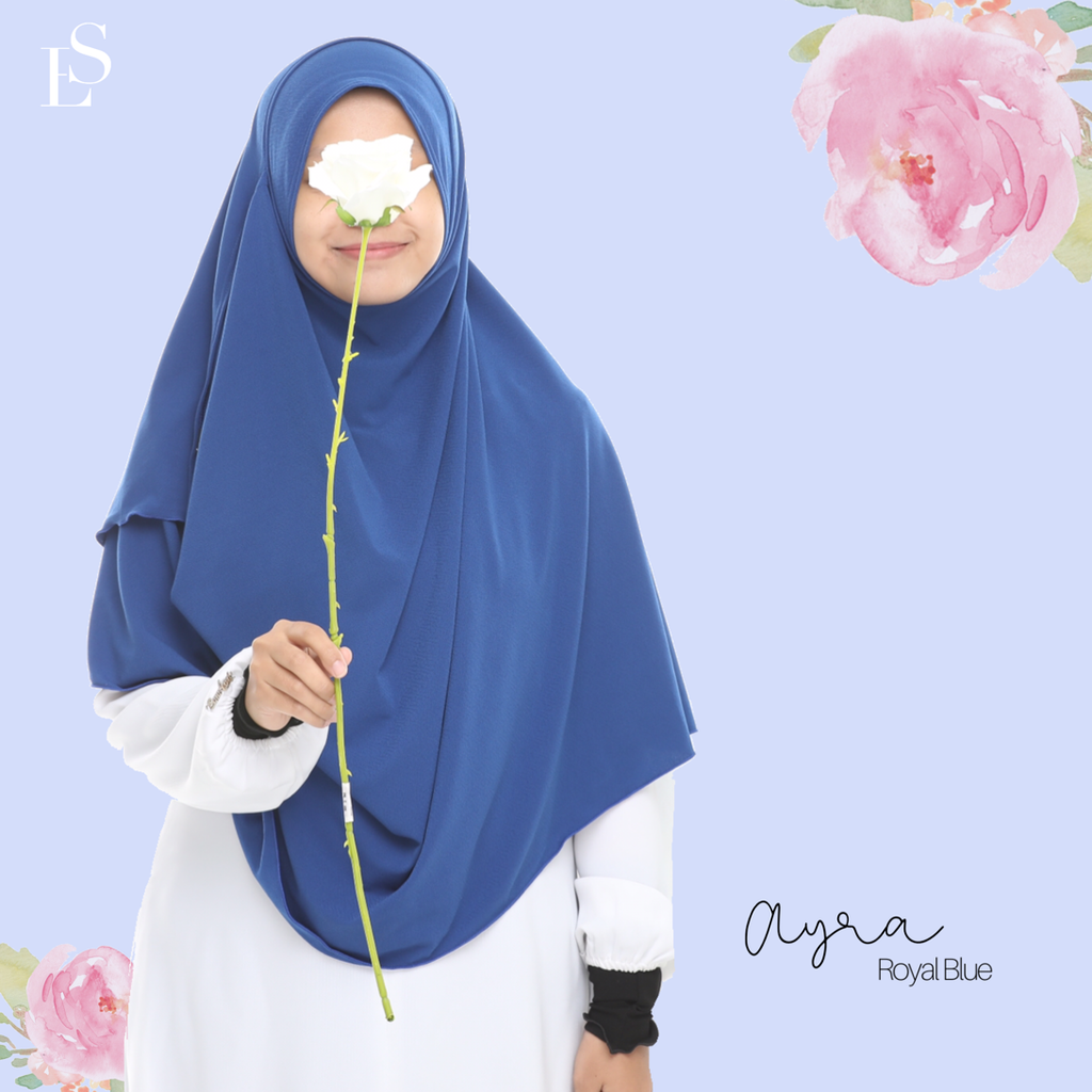 INSTANT SHAWL AYRA - Royal Blue