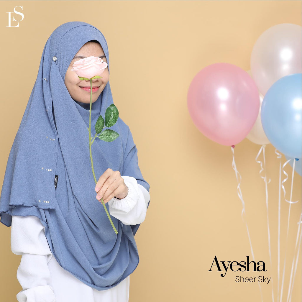 INSTANT SHAWL DIAMOND AYESHA - Sheer Sky