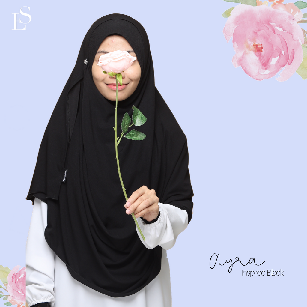INSTANT SHAWL AYRA - Inspired Black