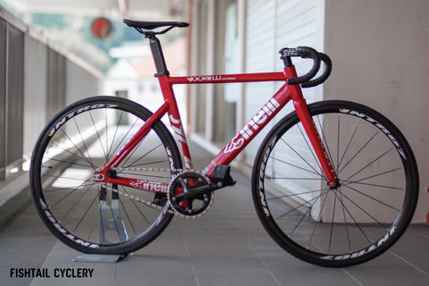 CINELLI Vigorelli Shark Red Alert Frameset - FISHTAIL CYCLERY