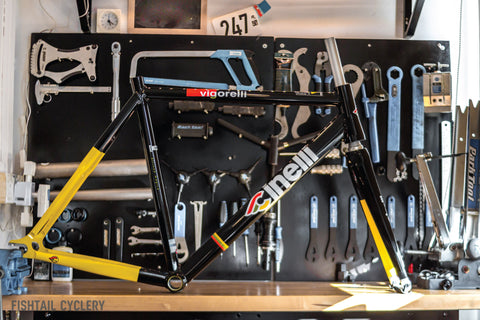 Cinelli Vigorelli Black is Black Frameset - FISHTAIL CYCLERY