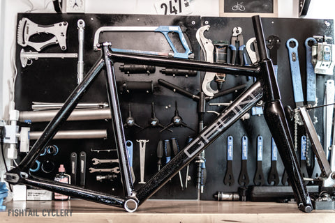 GRÜN INTEGRAL02 FRAMESET - FISHTAIL CYCLERY