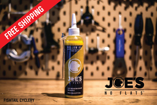 JOE's NO FLATS YELLOW GEL - FISHTAIL CYCLERY