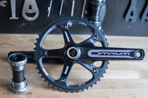 SRAM Omnium Track Crankset with GXP Bottom Bracket - FISHTAIL CYCLERY
