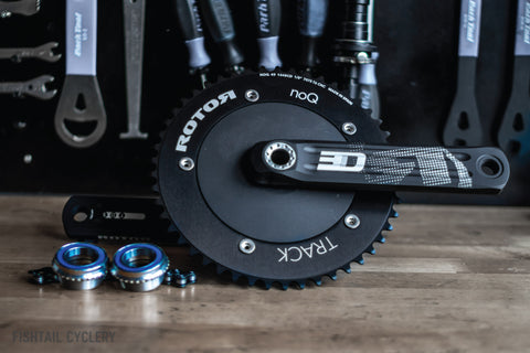 Rotor 3D24 Track Crankset with Chainring (Excludes BB) - FISHTAIL CYCLERY