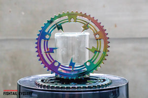 "INTRO7 ""The Flash"" Oil Slick Chainring - FISHTAIL CYCLERY"