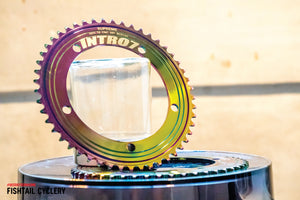INTRO7 Tornado Oil Slick 49T Chainring - FISHTAIL CYCLERY