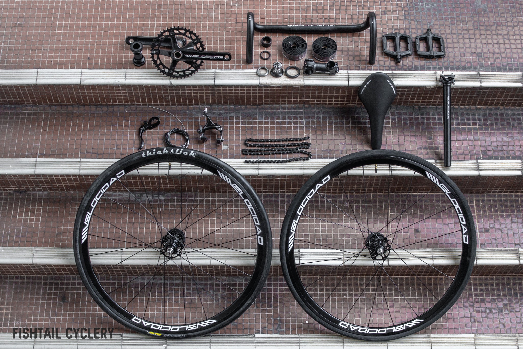 VELOCIDAD Full Set Fixed Gear Bicycle Components/Groupset - FISHTAIL CYCLERY