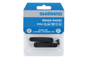 SHIMANO R55C4 Cartridge-Type Brake Shoes and Fixing Bolts (1 Pair)