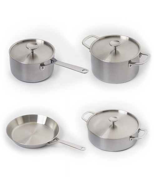 S Series - 4 Stainless Steel Pan Set (S1, S2, S4, S5)