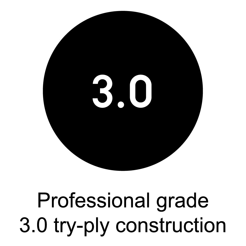 Professional grade 3.0 try-ply construction