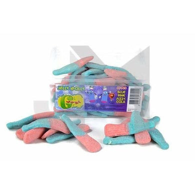Jelly Molly Blue-Pink Fizzy Giant Gummy (Halal)