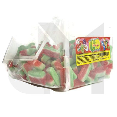 Jelly Molly Fizzy Sour Watermelon Slices - Halal