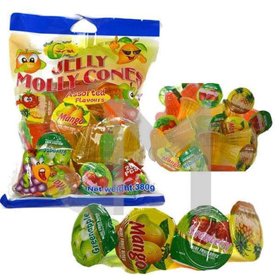 Jelly Molly Mixed Flavoured Fruit Jelly Cones