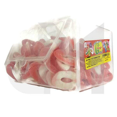 Jelly Molly Fizzy Strawberry Gummy Candy Tub - Halal