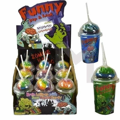 Funny Dip & Lick Sour Liquid Lollipops