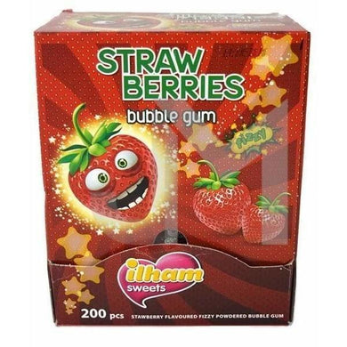 ilham Sour Fizzy Strawberry Gum