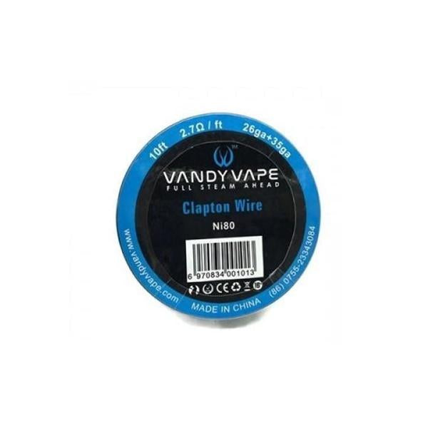 Vandy Vape Clapton Wire NI80  2.7 Ohm-ft  26ga+35ga