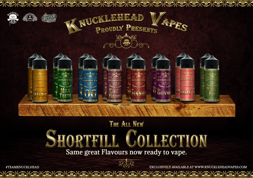 Knucklehead Vapes Shortfill Juice Range
