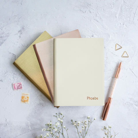 Small Personalised Leather Notebook