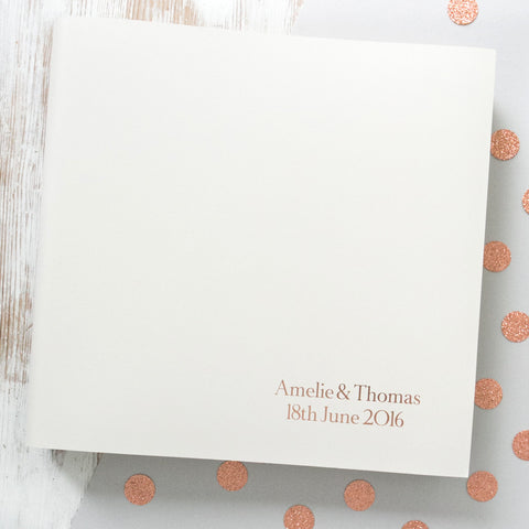 Traditional Font Large Wedding Album