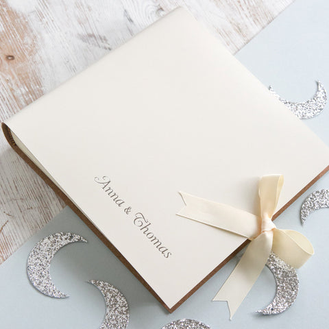 Calligraphy Wedding Photo Guest Book